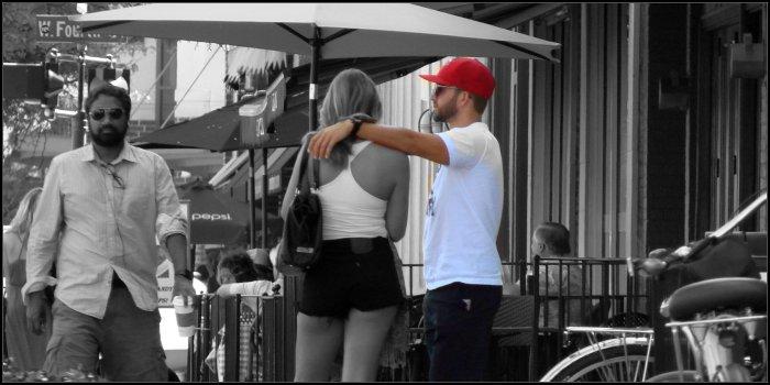 hand on your shoulder