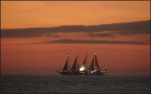 A ship that was sailing by this evening.....
