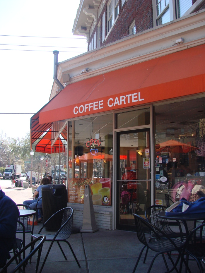 A coffee shop I stopped at in St. Louis